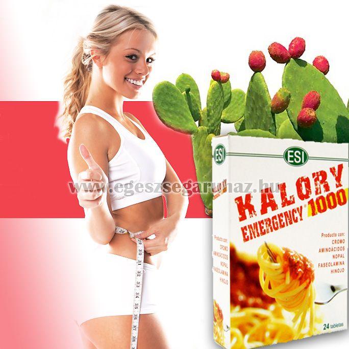 KALORY EMERGENCY 1000 – étvágycsökkentő és zsírmegkötő tabletta