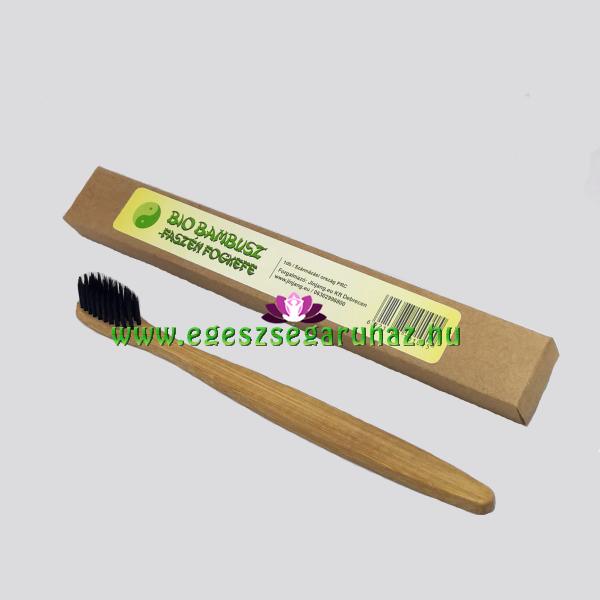 Bambusz faszén BIO fogkefe