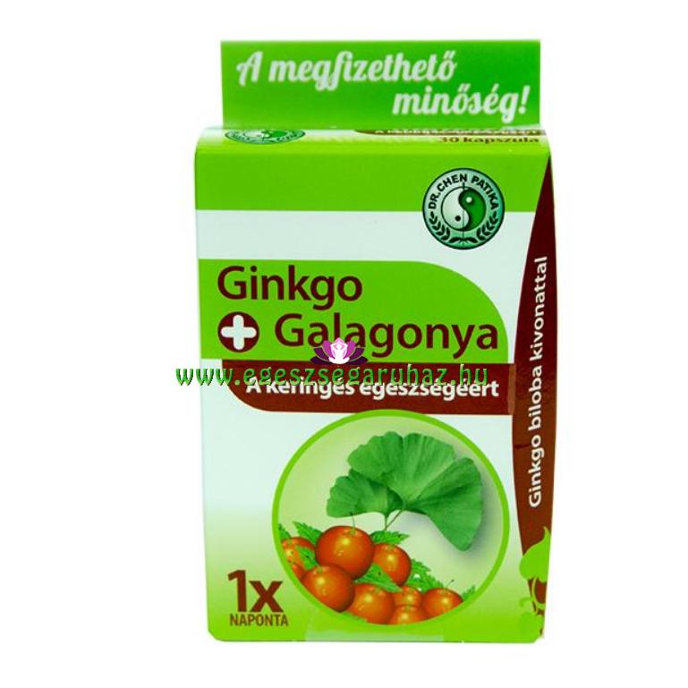 Dr. Chen Ginkgo biloba és Galagonya kapszula