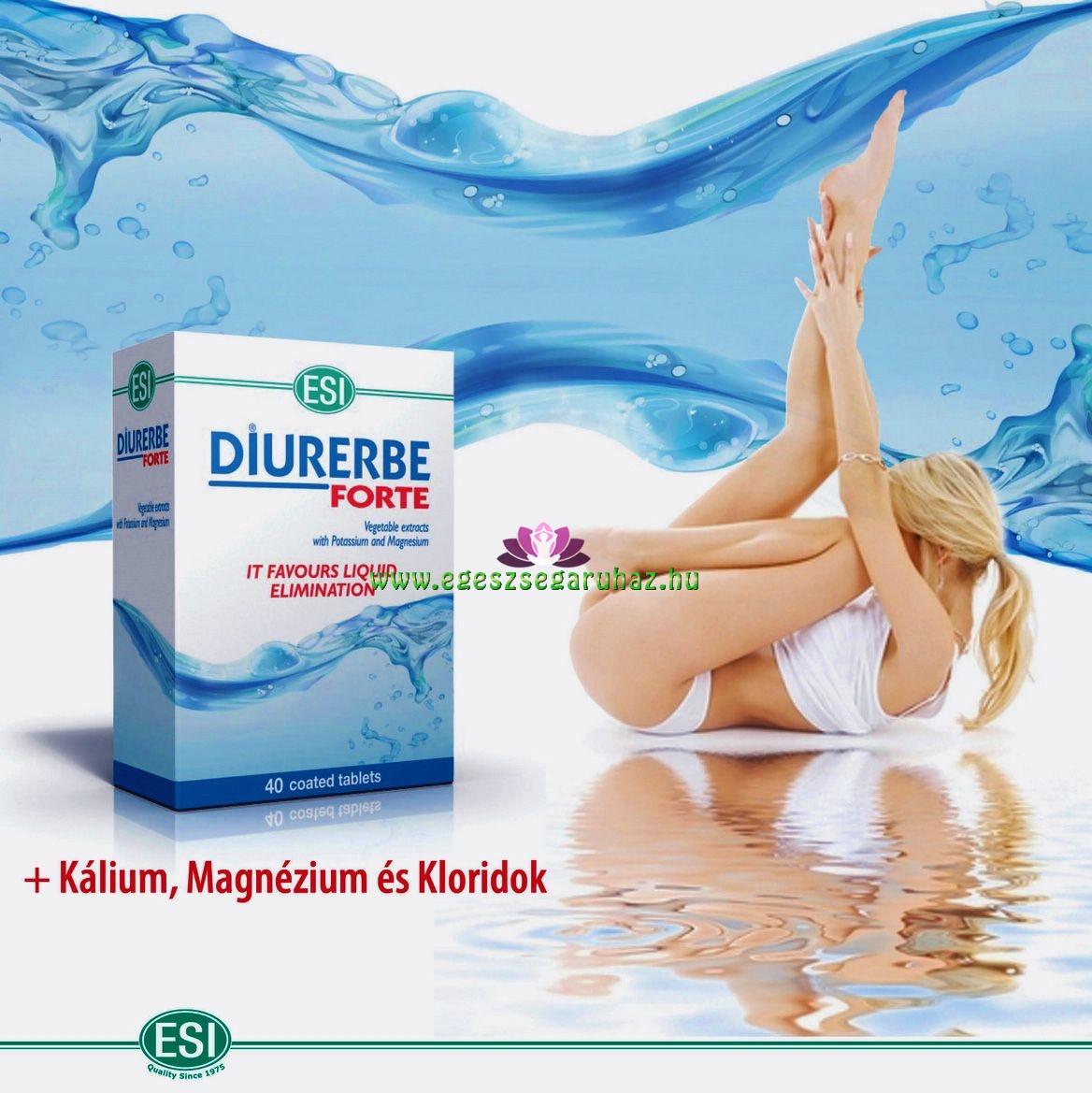 DIURERBE® FORTE tabletta - Természetes vízhajtó és salaktalanító